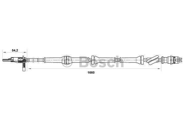 Capteur, vitesse de roue - BOSCH - 0 265 007 071