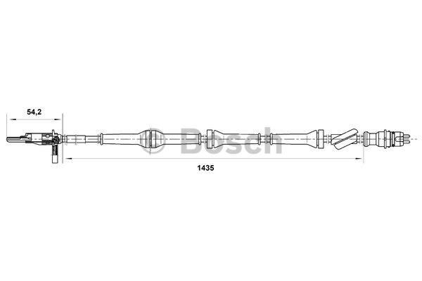Capteur, vitesse de roue - BOSCH - 0 265 007 072