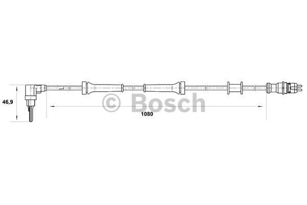 Capteur, vitesse de roue - BOSCH - 0 265 007 073