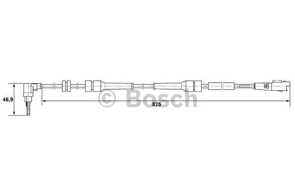 Capteur, vitesse de roue - BOSCH - 0 265 007 083