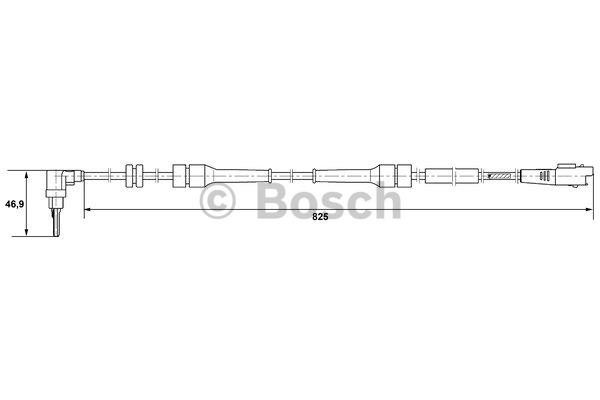 Capteur, vitesse de roue - BOSCH - 0 265 007 084