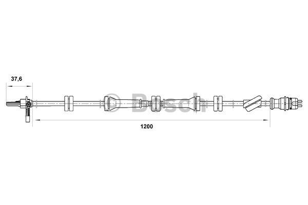 Capteur, vitesse de roue - BOSCH - 0 265 007 089