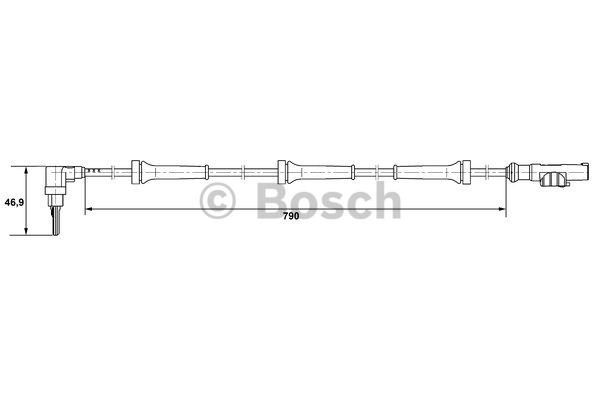 Capteur, vitesse de roue - BOSCH - 0 265 007 400