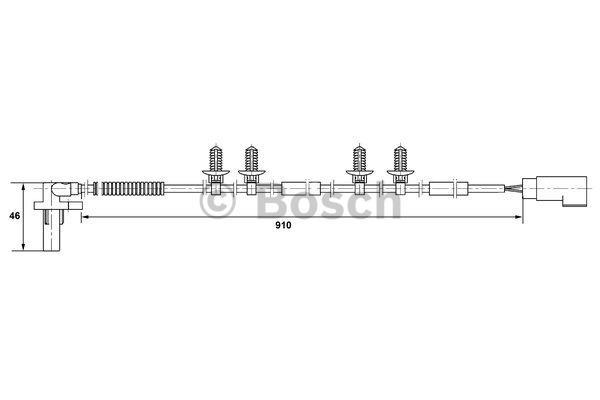 Capteur, vitesse de roue - BOSCH - 0 265 007 404