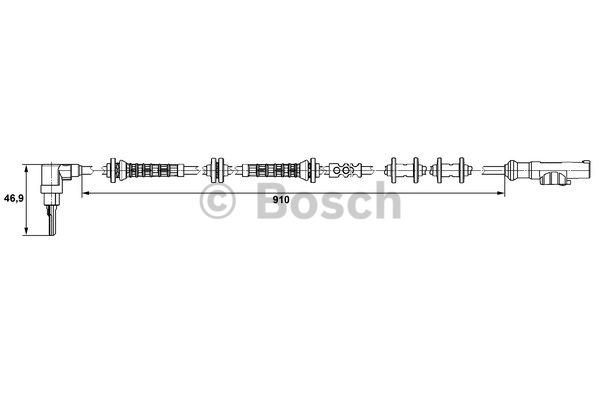Capteur, vitesse de roue - BOSCH - 0 265 007 448