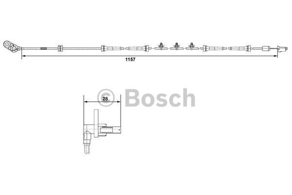 Capteur, vitesse de roue - BOSCH - 0 265 007 463