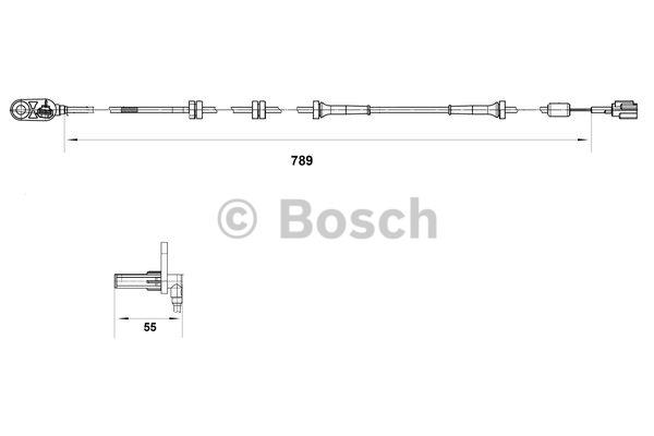 Capteur, vitesse de roue - BOSCH - 0 265 007 466