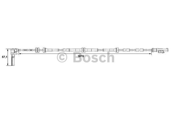 Capteur, vitesse de roue - BOSCH - 0 265 007 486