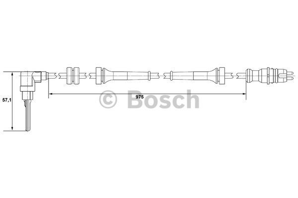 Capteur, vitesse de roue - BOSCH - 0 265 007 510
