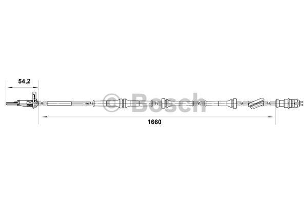 Capteur, vitesse de roue - BOSCH - 0 265 007 513