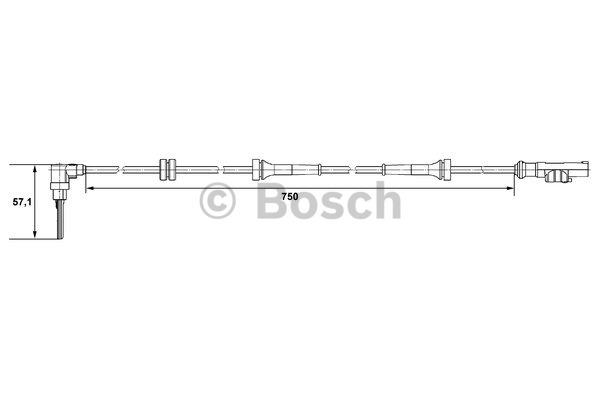 Capteur, vitesse de roue - BOSCH - 0 265 007 518