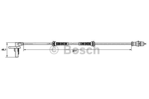 Capteur, vitesse de roue - BOSCH - 0 265 007 527