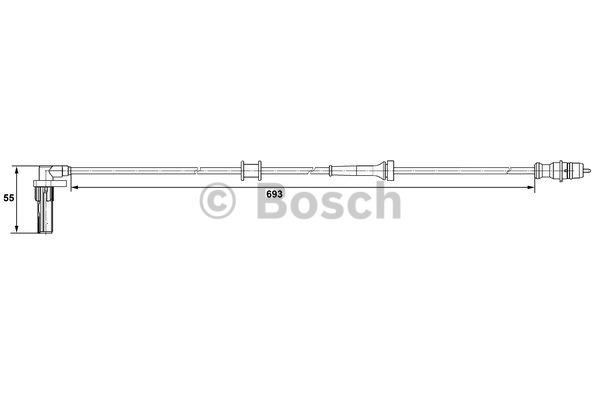 Capteur, vitesse de roue - BOSCH - 0 265 007 531