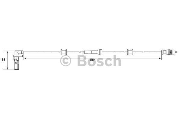Capteur, vitesse de roue - BOSCH - 0 265 007 532