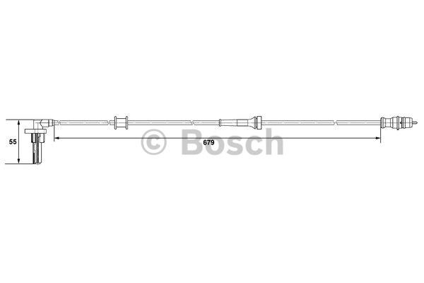 Capteur, vitesse de roue - BOSCH - 0 265 007 533