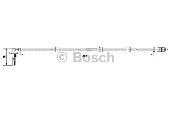 Capteur, vitesse de roue - BOSCH - 0 265 007 534
