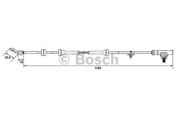 Capteur, vitesse de roue - BOSCH - 0 265 007 537