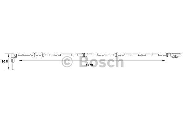 Capteur, vitesse de roue - BOSCH - 0 265 007 542