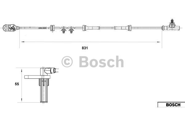 Capteur, vitesse de roue - BOSCH - 0 265 007 558