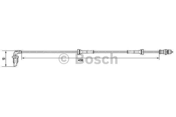 Capteur, vitesse de roue - BOSCH - 0 265 007 582