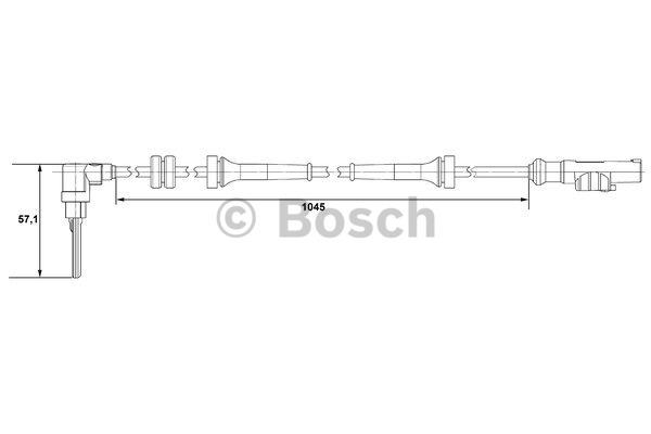 Capteur, vitesse de roue - BOSCH - 0 265 007 610