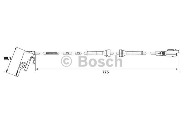 Capteur, vitesse de roue - BOSCH - 0 265 007 664