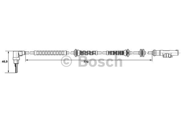 Capteur, vitesse de roue - BOSCH - 0 265 007 671