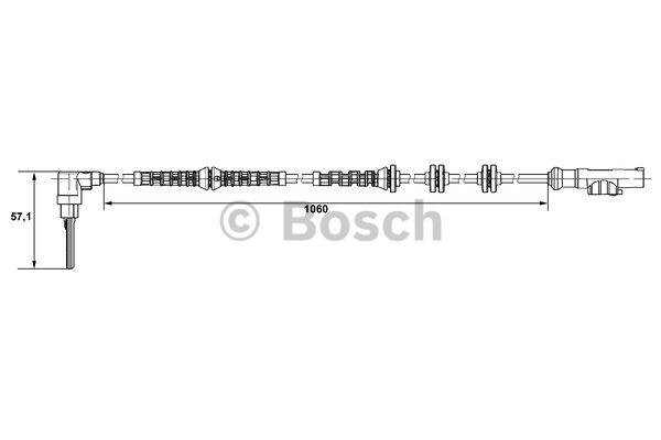 Capteur, vitesse de roue - BOSCH - 0 265 007 685