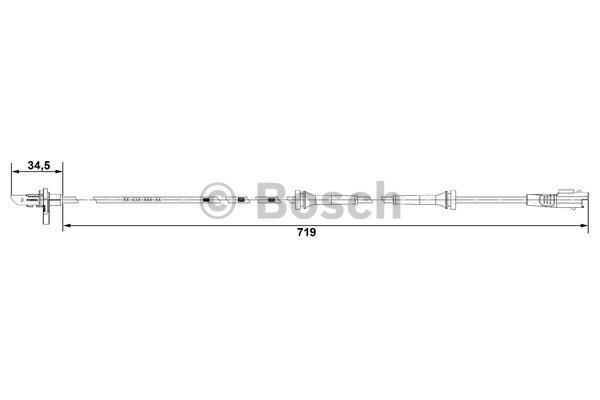 Capteur, vitesse de roue - BOSCH - 0 265 007 707
