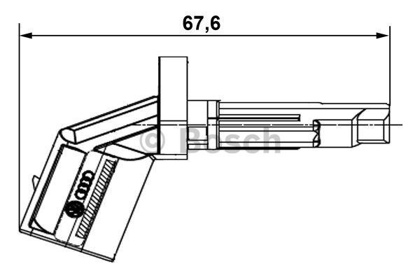 Capteur, vitesse de roue - BOSCH - 0 265 007 930