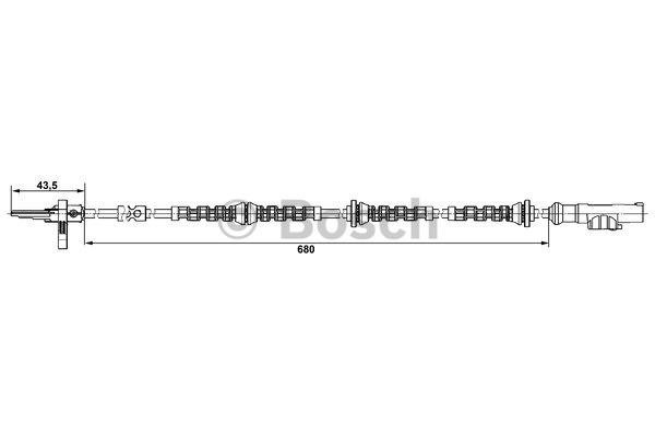 Capteur, vitesse de roue - BOSCH - 0 265 008 005
