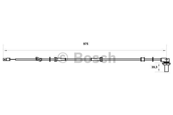 Capteur, vitesse de roue - BOSCH - 0 986 594 005