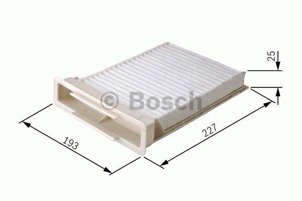 Filtre, air de l'habitacle - BOSCH - 1 987 432 134