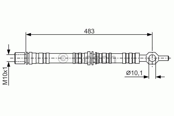 Flexible de frein - BOSCH - 1 987 476 002