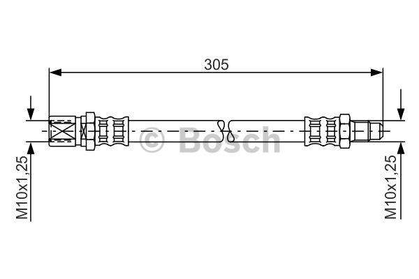 Flexible de frein - BOSCH - 1 987 476 003