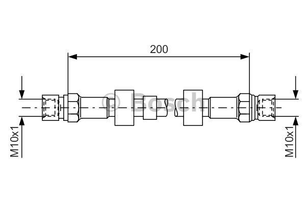 Flexible de frein - BOSCH - 1 987 476 006