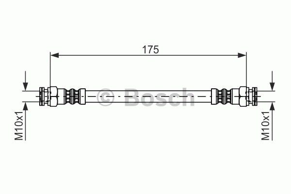 Flexible de frein - BOSCH - 1 987 476 012