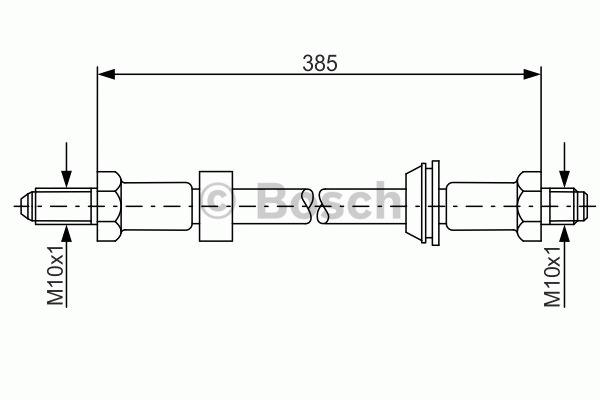 Flexible de frein - BOSCH - 1 987 476 021