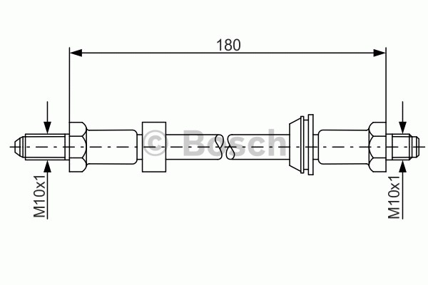 Flexible de frein - BOSCH - 1 987 476 022