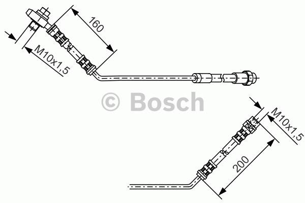 Flexible de frein - BOSCH - 1 987 476 054
