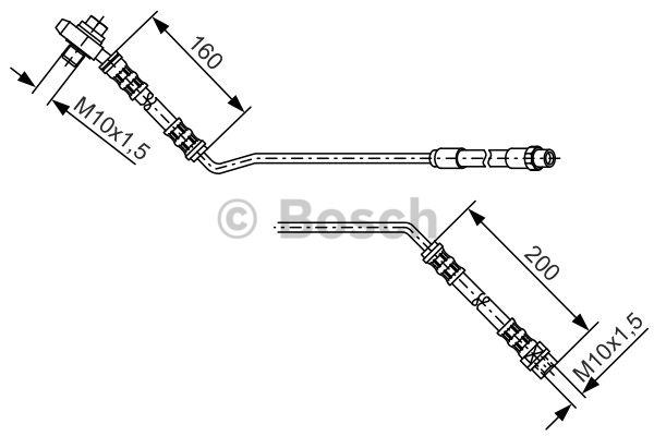 Flexible de frein - BOSCH - 1 987 476 055
