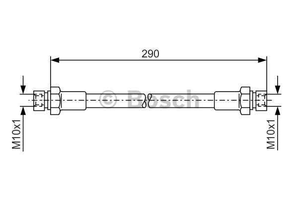 Flexible de frein - BOSCH - 1 987 476 061