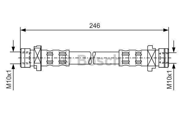 Flexible de frein - BOSCH - 1 987 476 071