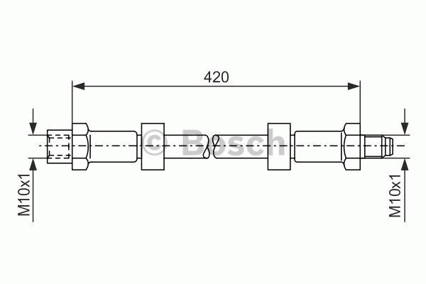 Flexible de frein - BOSCH - 1 987 476 077