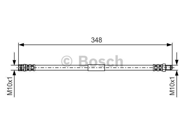 Flexible de frein - BOSCH - 1 987 476 080