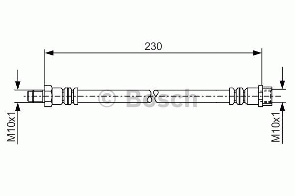 Flexible de frein - BOSCH - 1 987 476 083