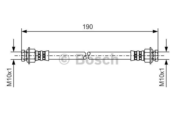 Flexible de frein - BOSCH - 1 987 476 084