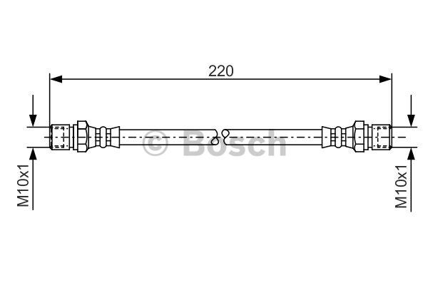 Flexible de frein - BOSCH - 1 987 476 090