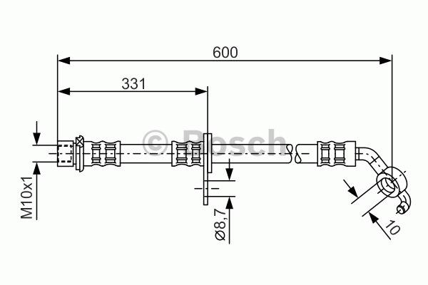 Flexible de frein - BOSCH - 1 987 476 108