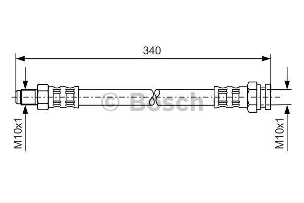 Flexible de frein - BOSCH - 1 987 476 121